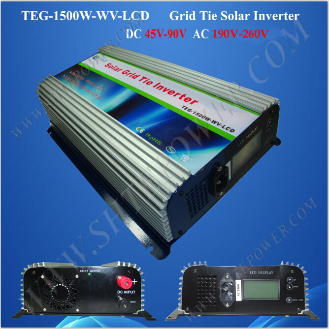LCD display 1500w dc to ac 230v 1.5kw mppt grid tie solar inverter fan cooling мультиметр fuke dt9205a ac dc lcd dt9205a