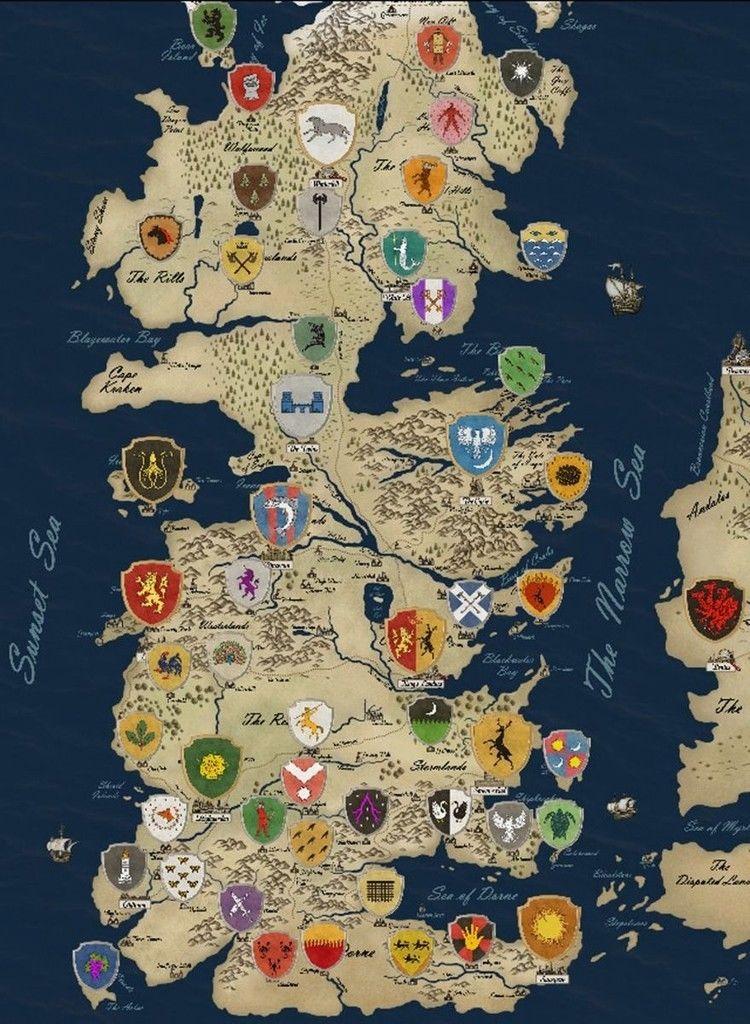 Resultado de imagem para Mapa de Westeros