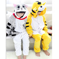 Halloween dress party girl menino pijama anime animais tigre gato onesie unicórnio para crianças crianças flanela sleepers traje cosplay