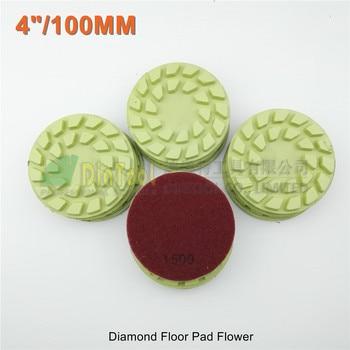 "SHDIATOOL 12pcs Dia 100mm Diamond Floor Sanding Disc Flower 4"" Resin Bond Diamond Floor Polishing Pads"