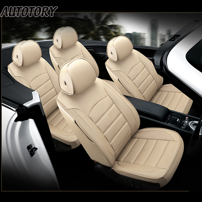 Autotory Cowhide Cover Seat for Lexus CT200h Automobiles Seat Covers Sets Leather Car Seats Cushion Supports Accessories 15PCS