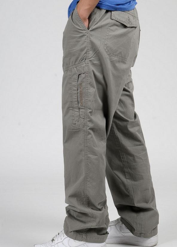 Новинка весна лето размера плюс мужские брюки карго хлопок свободные брюки мужские брюки 3XL 4XL 5XL 6XL - Цвет: Хаки