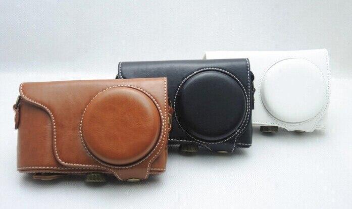 16758b00b بو الجلود كاميرا الصلب غطاء حالة حقيبة حامي لسامسونج GC200 GC110 GC100  الأسود/البني/الأبيض/الأحمر