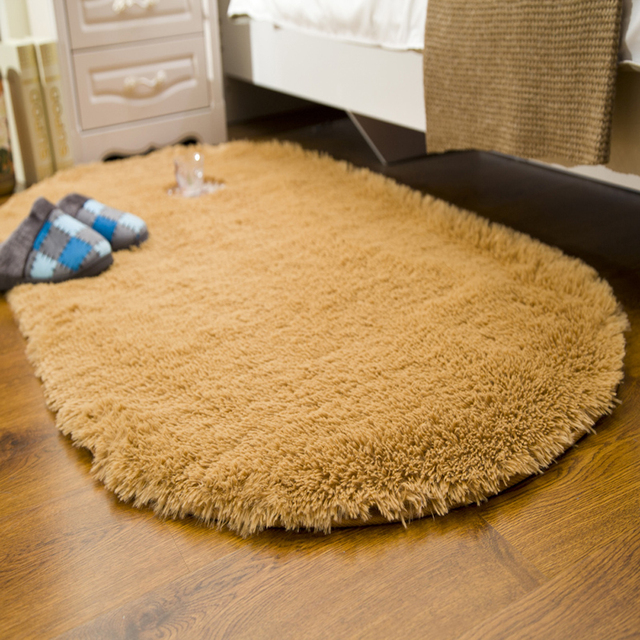 multi colorsize super cozy plush fluffy carpet and rug washable nonslip oval - Oval Area Rugs