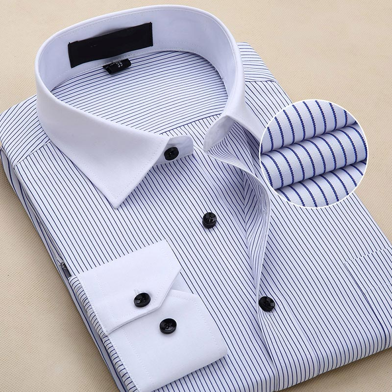 Men's Fashion Casual Printed Long-sleeved Shirt Men's Clothing Soft And Comfortable Slim Men's Business Social Shirt Brand