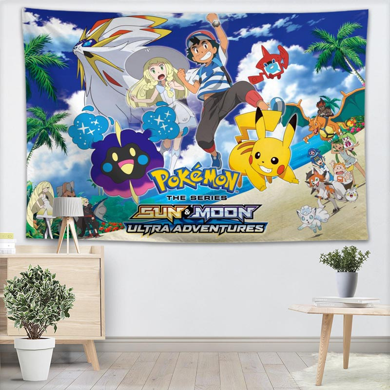 Pokemon Wall Tapestry Customizable Your Pattern Yoga