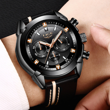 Men Watch Leather Sport LIGE9864