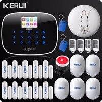 KERUI G19 Сенсорный экран сигнализации Беспроводной GSM SMS охранной сигнализации Системы Android Английский & Русский Голос rfid карты