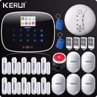 KERUI G19 сигнализация с тачскрином Беспроводной GSM SMS безопасность от проникновения сигнализации Системы Android Английский & Русский Голос rfid кар
