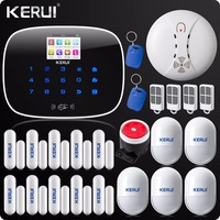 KERUI G19 Touch Screen Alarm Wireless GSM SMS Intruder Security Alarm System Android English & Russian Voice RFID Card