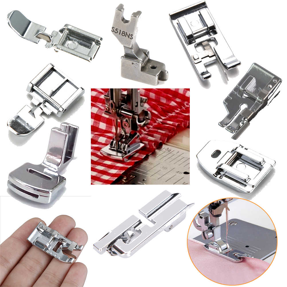 New Hot 20styles Domestic Sewing Machine Accessories Presser Foot Feet Kit Set Hem Foot Spare Parts For Brother Singer Janome