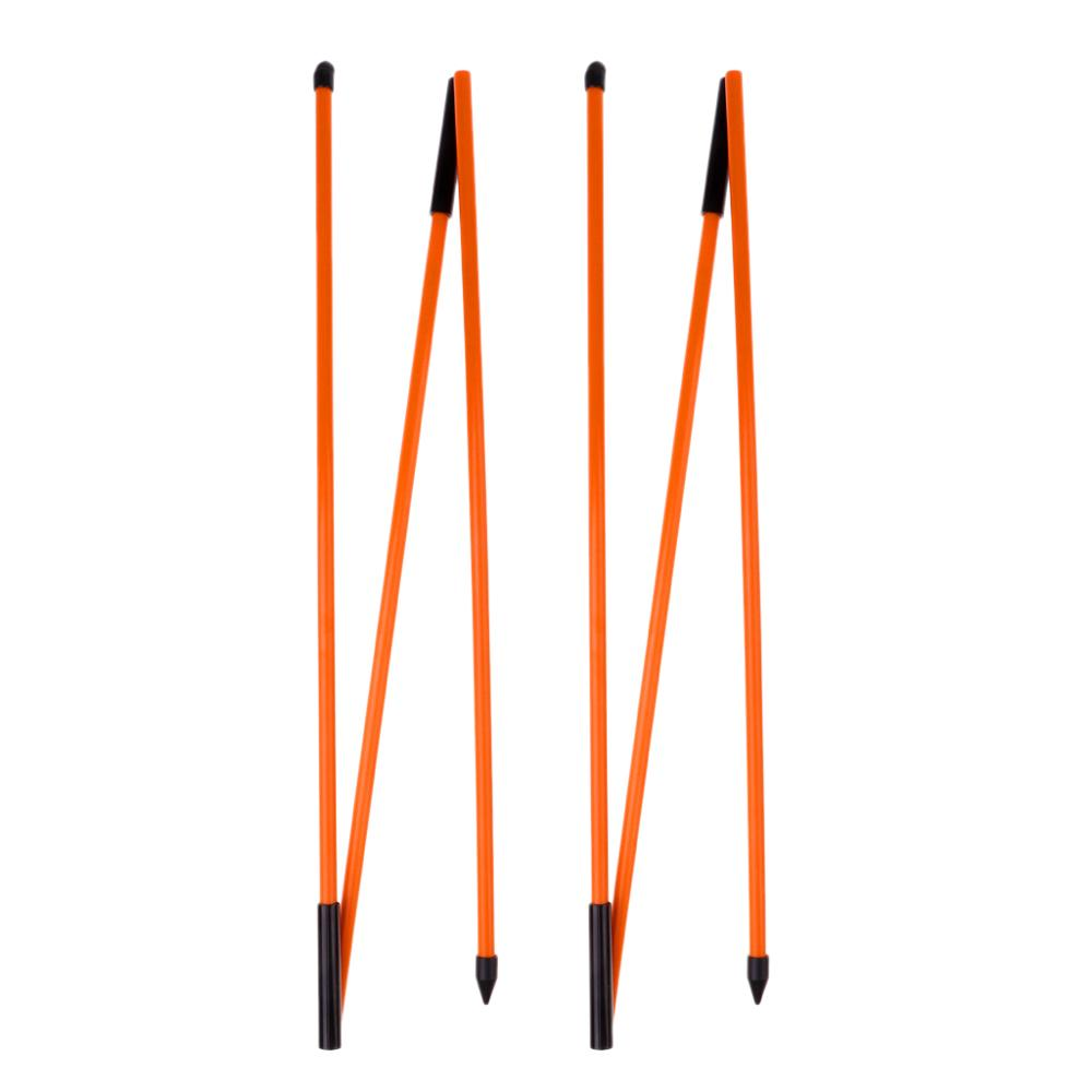 "2Pcs 48"" Golf Alignment Stick Putting Training Aid To Improve Golf Skills Ball Position Scores Swing Plane Orange Fiberglass"
