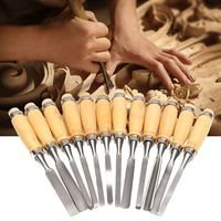 Freeshipping 12 Piece a set Wood Carving Hand Chisel Tool Set Woodworking Professional Gouges New Arrival DIY