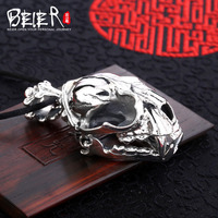 Beier new store 100% 925 thai silver sterling animal pendant necklace punk fashion jewelry free give rope A2129