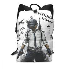 Pubgpack Backpack Winner Chicken Dinner PUBG Design Backpacks Mens - Womens Teenage Bag Multifunctional Trend Bags
