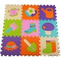 Bebê Piso Ecológico Do Bebê Espuma Eva Puzzle Esteiras Capacho Anti-slip Slip-resistente Pad Cawling Tiles 9*30*30 cm * 1 cm