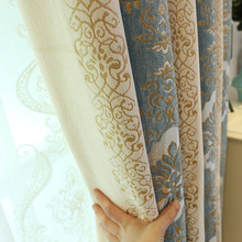 цена на Factory Direct Sales of The New Thickened Chenille Jacquard Curtain Cloth Bedroom Living Room Shading Custom Finished Products