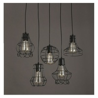 New Arrival American Pastoral Style Retro Flower Type Pendant Light Cage Entrance Hall Shade Lamp Vintage