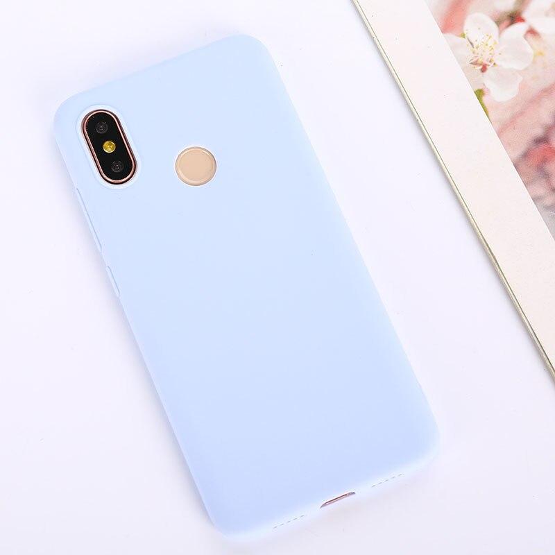 Цветной ТПУ силиконовый чехол для Xiao mi Red mi Note 6 5 7 8 Pro Red mi 7 6A 7A матовый чехол для Xiaomi mi 9 SE mi 9T mi 8 Lite mi A2 A1 A3 - Цвет: Purple