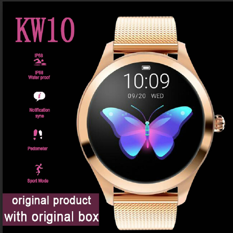 KW10 Smart Watch Women 2018 IP68 Waterproof Heart Rate Monitoring Bluetooth For Android IOS Fitness Bracelet SmartwatchKW10 Smart Watch Women 2018 IP68 Waterproof Heart Rate Monitoring Bluetooth For Android IOS Fitness Bracelet Smartwatch