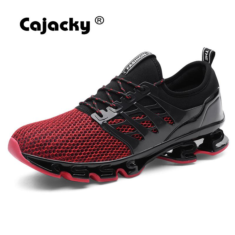 Cajacky Men Casual Sneakers Plus Size 48 47 Summer Breathable Men Shoes Wearable Bottom Trainers Men Krasovki Lace Up Zapatillas cajacky unisex sneakers 2018 mesh casual shoes men mesh lace up male fly weave krasovki men fashion light breathable trainers