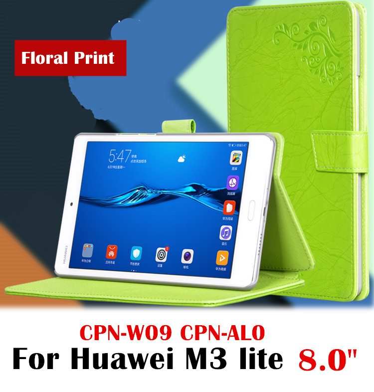 Floral & Silk Leather Case Flip cover for Huawei MediaPad M3 Lite 8 8.0 CPN-W09 CPN-AL00 8 tablet case protective shell skin case for huawei mediapad m3 lite 8 case cover m3 lite 8 0 inch leather protective protector cpn l09 cpn w09 cpn al00 tablet case