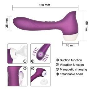 Image 4 - Potężny wibrator łechtaczki wodoodporny G Spot sutek stymulator łechtaczki łechtaczka ssania łechtaczka Sucker kobieta Sex Shop
