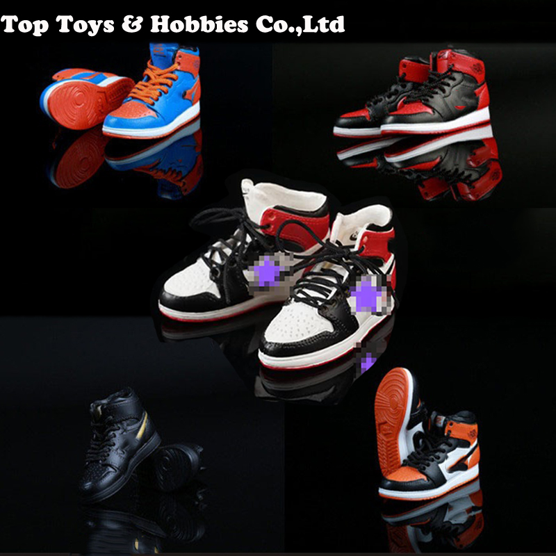 "1/6 Scale Fashion Lace-up Shoes Hollow Basketball Boots Model Sports Sneakers For 12"" Action Figure Model Toys Gift Collection"