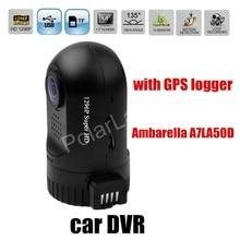 Cheaper free shipping Car Camera Recorder Mini 0805 Ambarella A7LA50D HD with GPS logger auto DVR vehicle camcorder digital video