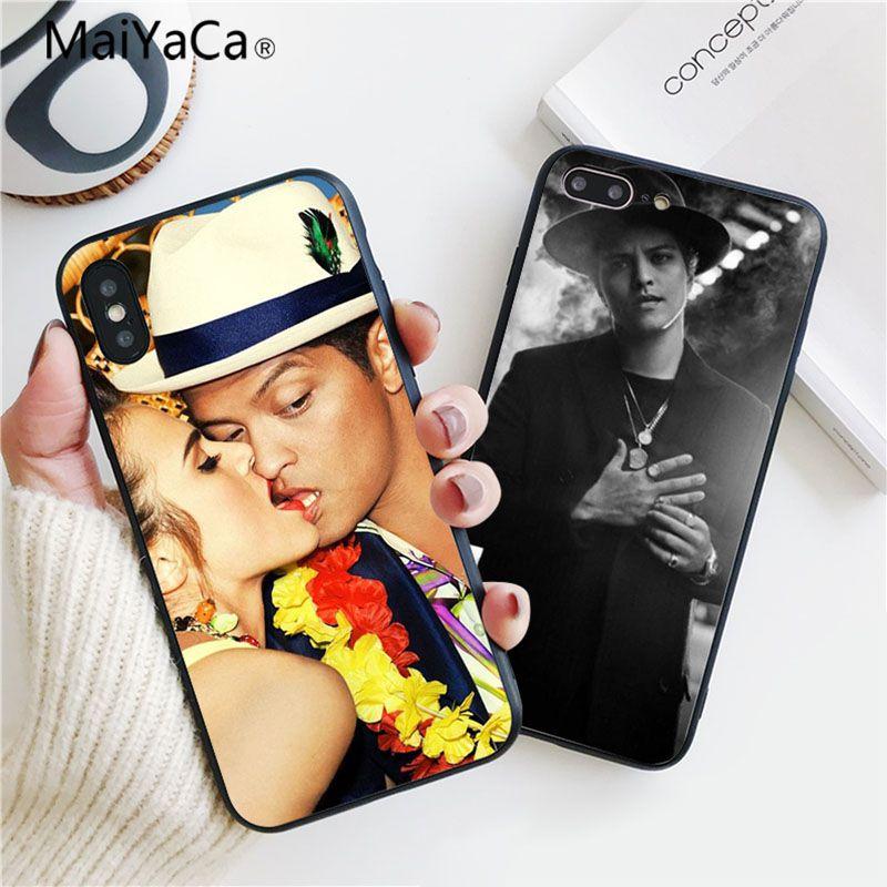 MaiYaCa Bruno Mars Индивидуальные фотографии из мягкой резины черный чехол для iphone 8 8 плюс 7 7 плюс 6 6 plus 5 5S 5c SE крышка мобильного ...