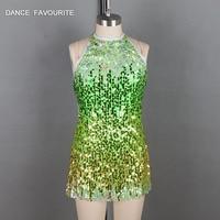 18524 Color sequin bodice top ballet costume girl & women stager performance dance costume jazz/tap dance costume dancewear