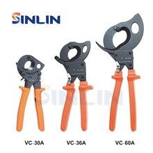 PINZA VC 30A,VC 36A,VC 60A RATCHET CABLE CUTTER STRUMENTI di capacità di Taglio 3 Size 32 millimetri 240 millimetri 36 millimetri 300 millimetri 60mm 500 millimetri