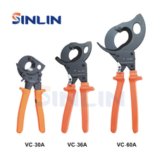 Szczypce VC 30A,VC 36A,VC 60A obcinak do kabli z zapadką narzędzia wydajność cięcia 3 Size 32mm 240mm 36mm 300mm 60mm 500mm