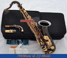 Professional Black Nickel Gold C Melody Sax Saxophone Abalone Key High F# 2 Neck