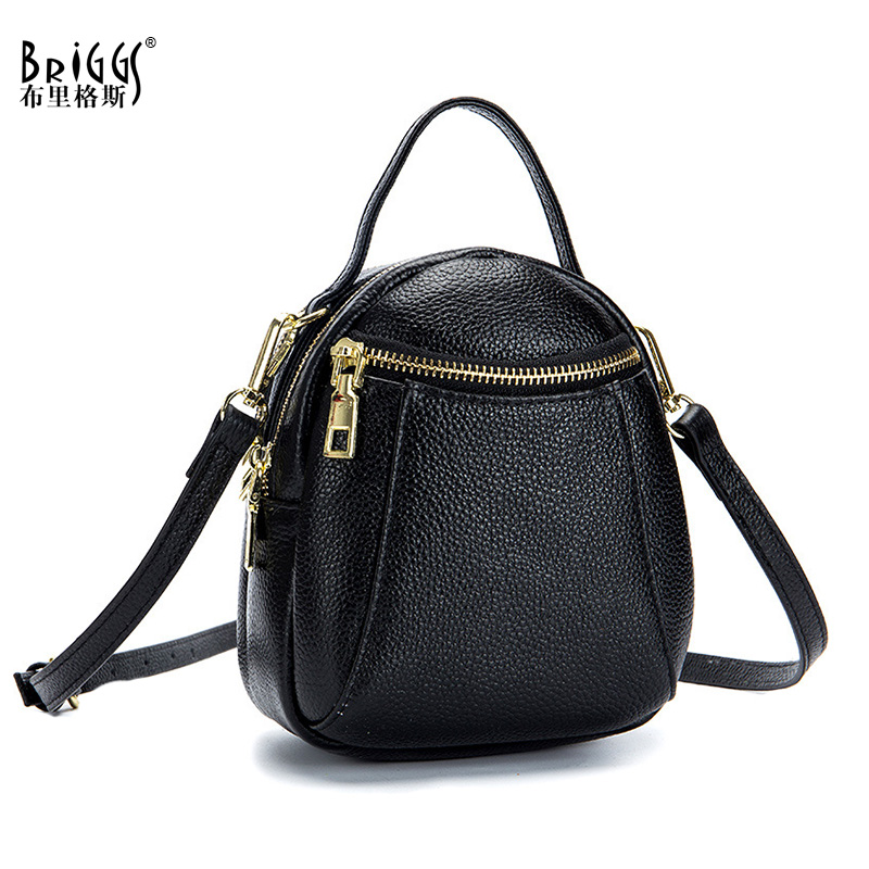 BRIGGS Mini Handbags Genuine Leather Female Handbag Women Bags Famous Brand Shoulder Crossbody Bags Women Messenger Bag Tote genuine leather bag female handbag women bag famous brand shoulder crossbody bags women messenger bag tote bow tie big blue bags