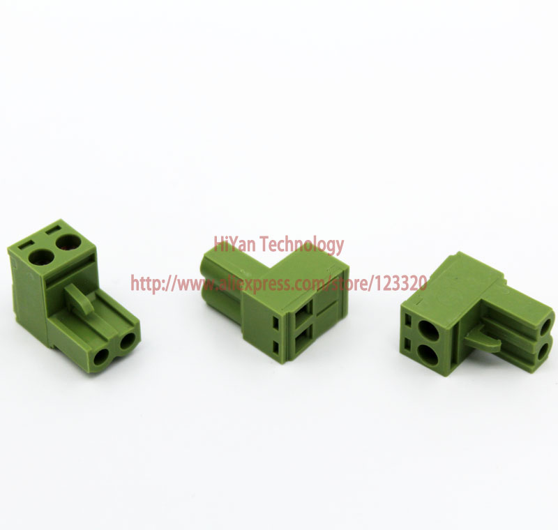 (20sets/lot) PCB Screw Terminal Block Connector KF2EDGK 2P and 180 Degree Pin Header pitch:5.08MM/0.2inch Green 10A 300V 2Pins