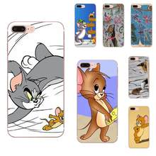 Para LG G2 G3 G4 G5 G6 G7 K4 K7 K8 K10 K12 ThinQ K40 Mini Mais Stylus 2016 2017 2018 TPU Pele Pintando Tom Cat E Jerry Rato(China)