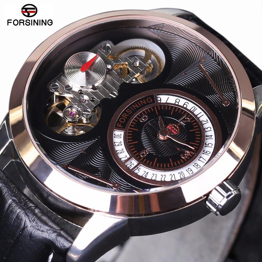 все цены на FORSINING Classic Series Tourbillon Mechanical Men Watches Fashion Design Waterproof Automatic Watch Sports Military Date Clock онлайн