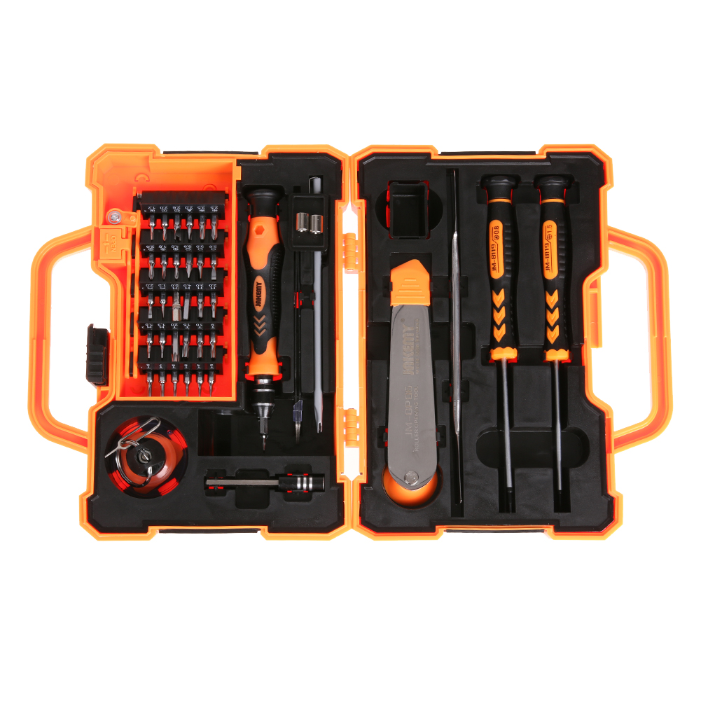 цена на JM-8139 45 in 1 Multifunction Screwdriver Set Kit with Spudger Tweezers Repair Tools for Tablets Mobile Phone PC