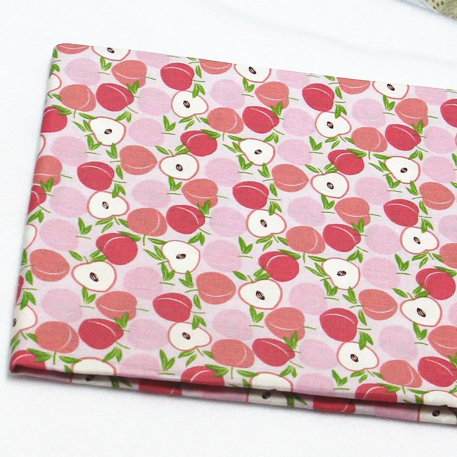 ZAKKA Katoen 50x160 cm Fruit Gedrukt Stof voor Patchwork Naaien - Kunsten, ambachten en naaien