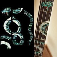 Pour BASSE Manche Marqueurs Inlay Autocollant Stickers-Twisted Serpent