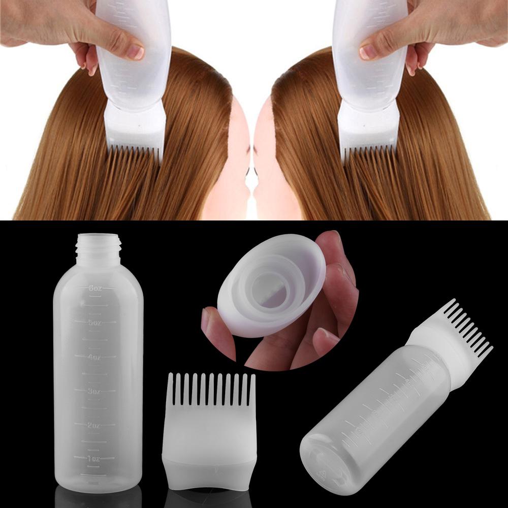 1 Buah Plastik Pewarna Rambut Mengisi Botol Aplikator Dengan Lulus