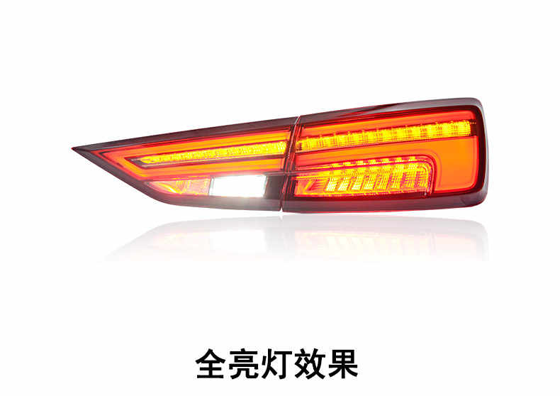 KOWELL  Car StylingFor Audi A3 Tail Lights 2011- 2018 Taillight  Accessories  LED Tail Light Rear Lamp Dynamic turn signal