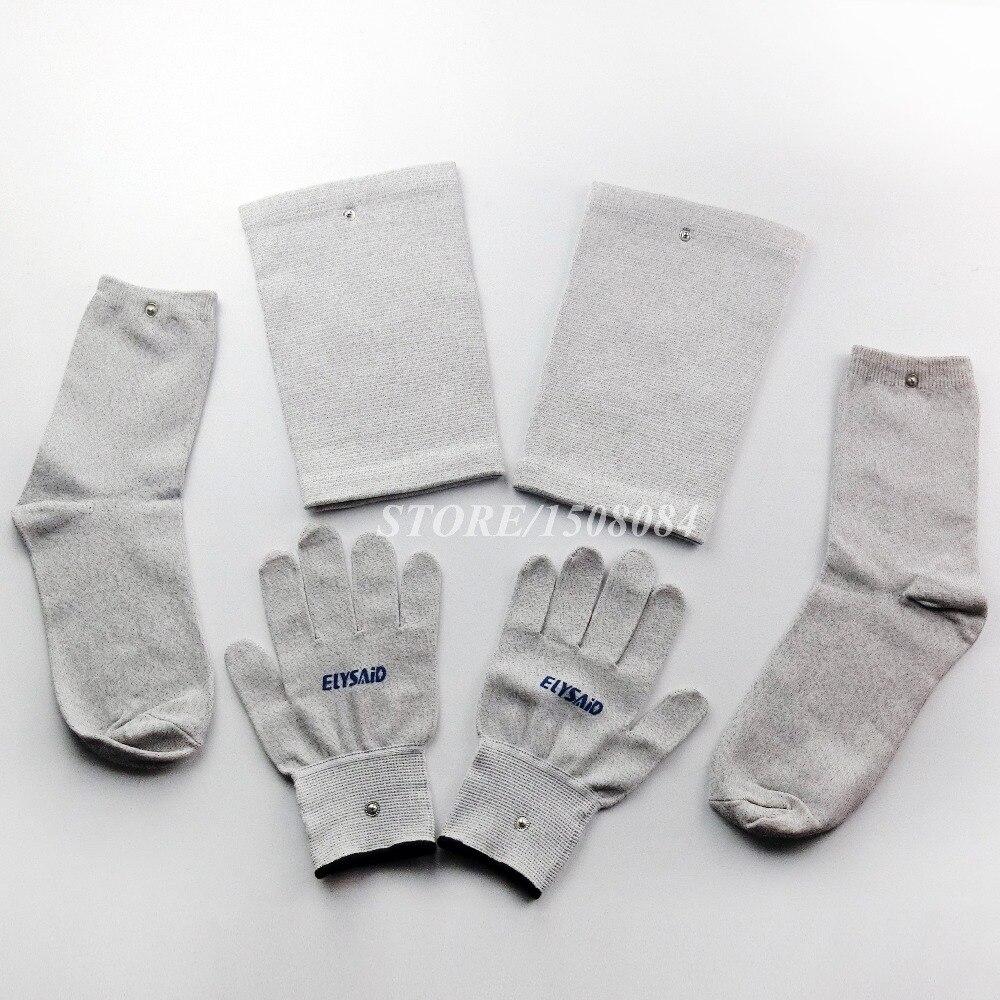Konduktif perak serat TENS / EMS sarung tangan terapi elektroda + - Penjagaan kesihatan - Foto 5