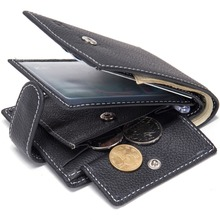 Wallet brand Short men Wallets Genuine leather Leather male Purse Card Holder Wallet Fashion man Zipper Wallet men Coin bag