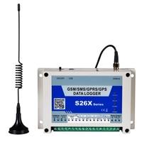 Gsm rtu 아날로그 데이터 로거 실시간 모니터링 기록 릴레이 제어 무료 통화 지원 ac/dc 전원 상태 모니터링 s262