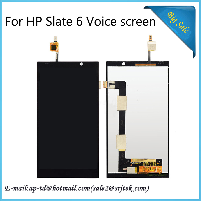 ФОТО High Quality 6'' For HP Slate 6 Voice Tab LCD Display+Touch Screen Full Assembly Glass Sensor Digitizer Replacement Parts