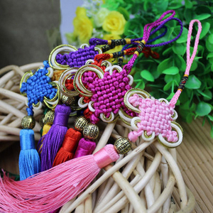 Image 3 - Tassel Craft Knot Car Ornaments Tassel Pendant Crafts Auto Rearview Mirror Ornament Hanging Car Decoration Pendant