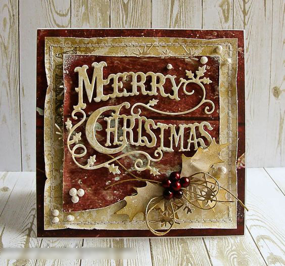 Merry Christmas Holly Leaves Metal Cutting Die Cutter Knife Mold For Clear Stamp Scrapbooking Card Make Die Cutter Album DIY Dec