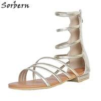 Sorbern Women Sandals Shoes Womens Sandals Summer 2018 Sandalias Mujer Woman Flat Sandals Large Size Shoes